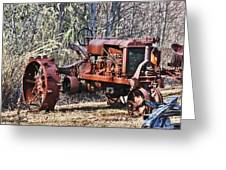 Rusty Old Tractor Greeting Card