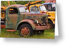 Rusty Old Trucks Greeting Card