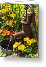 Rusty Old Water Pump Greeting Card