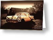 Rusty Oldsmobile Greeting Card