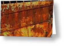 Rusty Remains Of An Old Boat Greeting Card