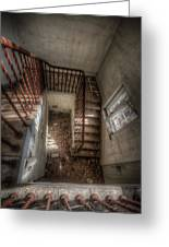 Rusty Stairs Greeting Card