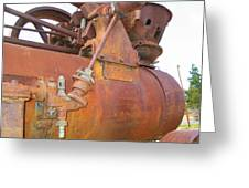 Rusty Steam Tractor Greeting Card