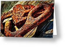 Rusty Tools I With Texture Greeting Card