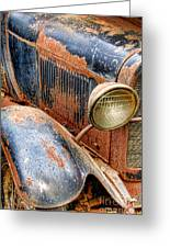 Rusty Vintage Automobile Greeting Card