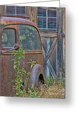 Rusty Vintage Ford Panel Truck Greeting Card