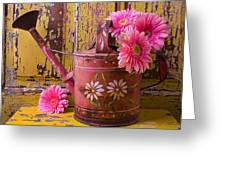Rusty Watering Can Greeting Card