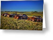 Rusty Westward Line Up Greeting Card