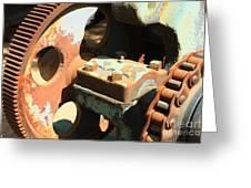 Rusty Wheel Gear Greeting Card