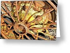 Rusty Wheel Greeting Card