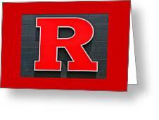 Rutgers Block R Greeting Card