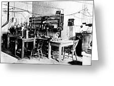 Rutherford's Cavendish Laboratory Greeting Card
