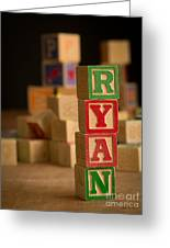 Ryan - Alphabet Blocks Greeting Card