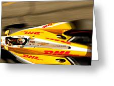 Ryan Hunter-reay Greeting Card by Denise Dube