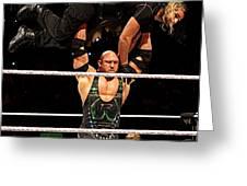 Ryback And Shield Greeting Card
