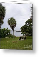 Ryckman Park In Melbourne Beach Florida Greeting Card by Allan  Hughes