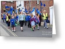 Rye Olympic Torch Parade Greeting Card