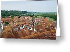 Rye Town Roofs Greeting Card