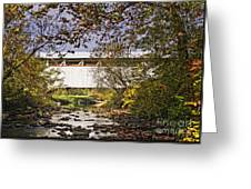 Ryot Covered Bridge And Stream Greeting Card
