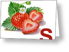 S Art Alphabet For Kids Room Greeting Card