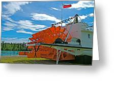 S S Klondike On Yukon River In Whitehorse-yt Greeting Card