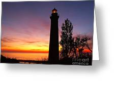 Sable Point Sunset Greeting Card