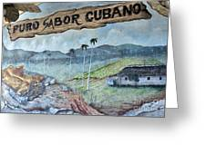 Sabor Cubano Greeting Card