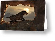 Sabre-tooth Cave. Greeting Card