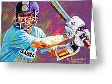 Sachin Tendulkar Greeting Card