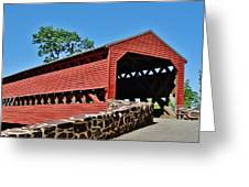 Sachs Covered Bridge 2 Greeting Card