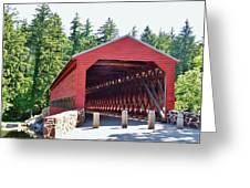 Sachs Covered Bridge 4 Greeting Card