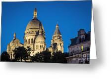 Sacre Coeur - Night View Greeting Card