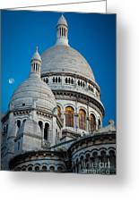 Sacre-coeur And Moon Greeting Card