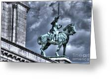 Joan Of Arc Sacre Coeur Paris Greeting Card