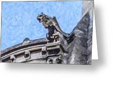 Sacre Coeur Gargoyle Greeting Card
