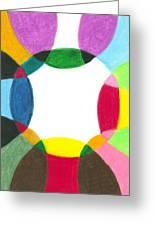 Sacred Circle Of Light Greeting Card