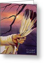 Sacred Feathers Greeting Card by Robert Hooper