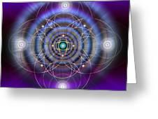 Sacred Geometry 369 Greeting Card