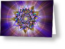 Sacred Geometry 386 Greeting Card