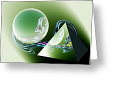 Sacred Geometry Digital Art Greeting Card by Georgeta  Blanaru