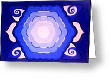 Sacred Geometry Mandala Greeting Card