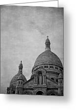 Sacred Heart Basilica Of Montmartre  Greeting Card
