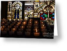 Sacred Heart Prayer Candles Greeting Card