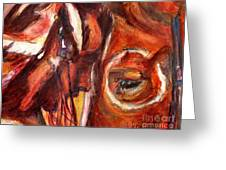 Sacred Horse With Indian Greeting Card