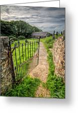 Sacred Path Greeting Card by Adrian Evans