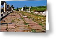 Sacred Road To Asclepion In Pergamum-turkey  Greeting Card