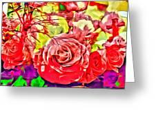 Sacred Roses Greeting Card