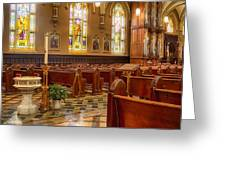 Sacred Space - Our Lady Of Mt. Carmel Church Greeting Card