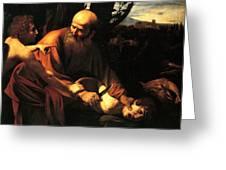 Sacrifice Of Issac Greeting Card