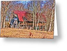 Sad Barn -  Featured In 'old Buildings And Ruins' Greeting Card